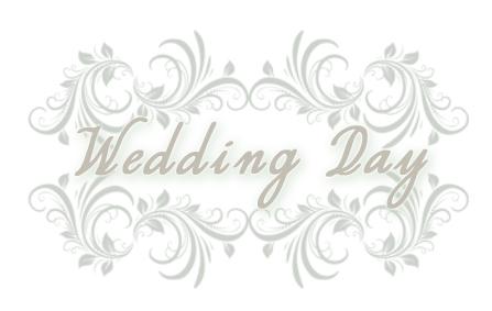 Wedding day button